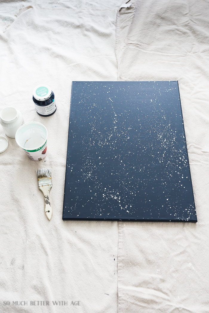 Easy DIY Space Art/splatter canvas- So Much Better With Age