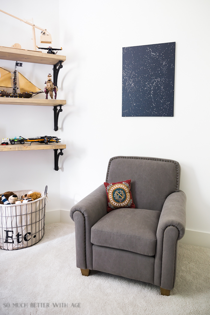 Industrial Space Boy's Bedroom Reveal/space artwork - So Much Better With Age