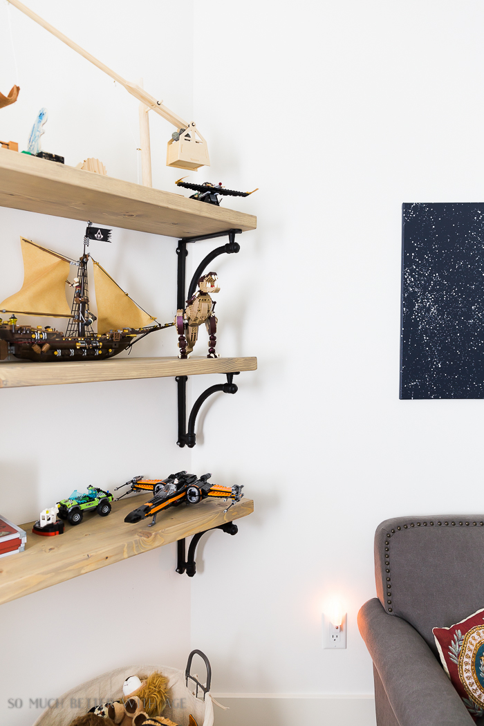 DIY Wooden Shelves & How to Install Them/Industrial Space bedroom - So Much Better With A