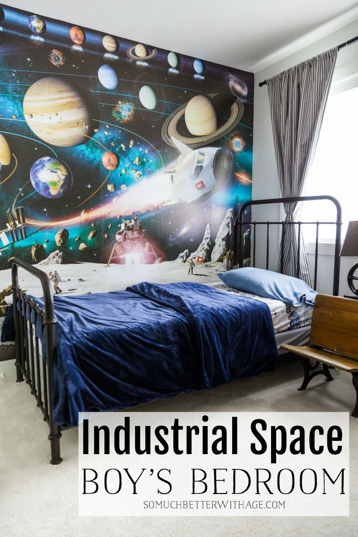 Industrial Space Boy's Bedroom - So Much Better With Age