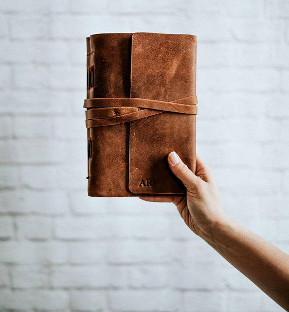 The Best Mother's Day Gifts from Etsy/leather monogrammed journal Forest Nine - So Much Better With Age