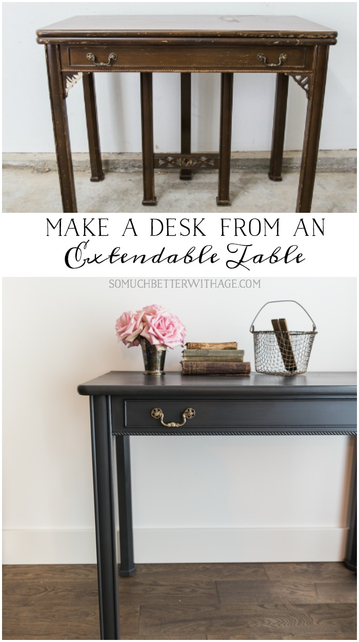 Make a Desk from an Extendable Table - So Much Better With Age