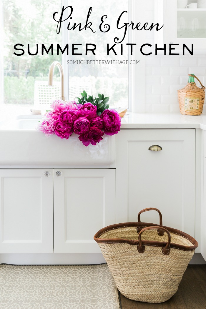 Pink & Green Summer Kitchen - So Much Better With Age