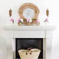 Simple Summer Mantel with Peonies