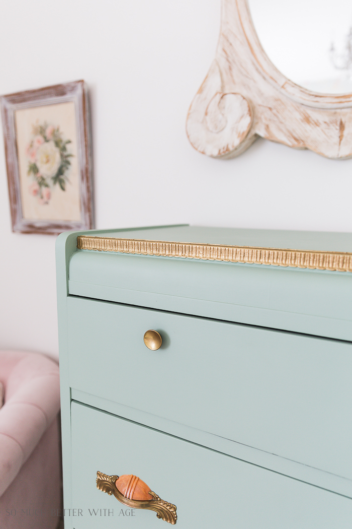Piping on Furniture Technique-Add French Details/gold on dresser, girl's room - So Much Better With Age