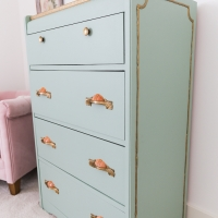 Piping on Furniture Technique – Add French Details to a Plain Dresser