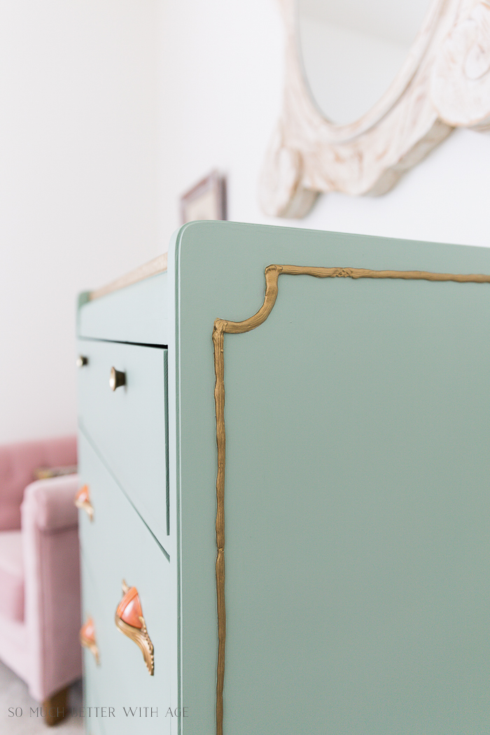 Piping on Furniture Technique-Add French Details/gold piping on dresser - So Much Better With Age