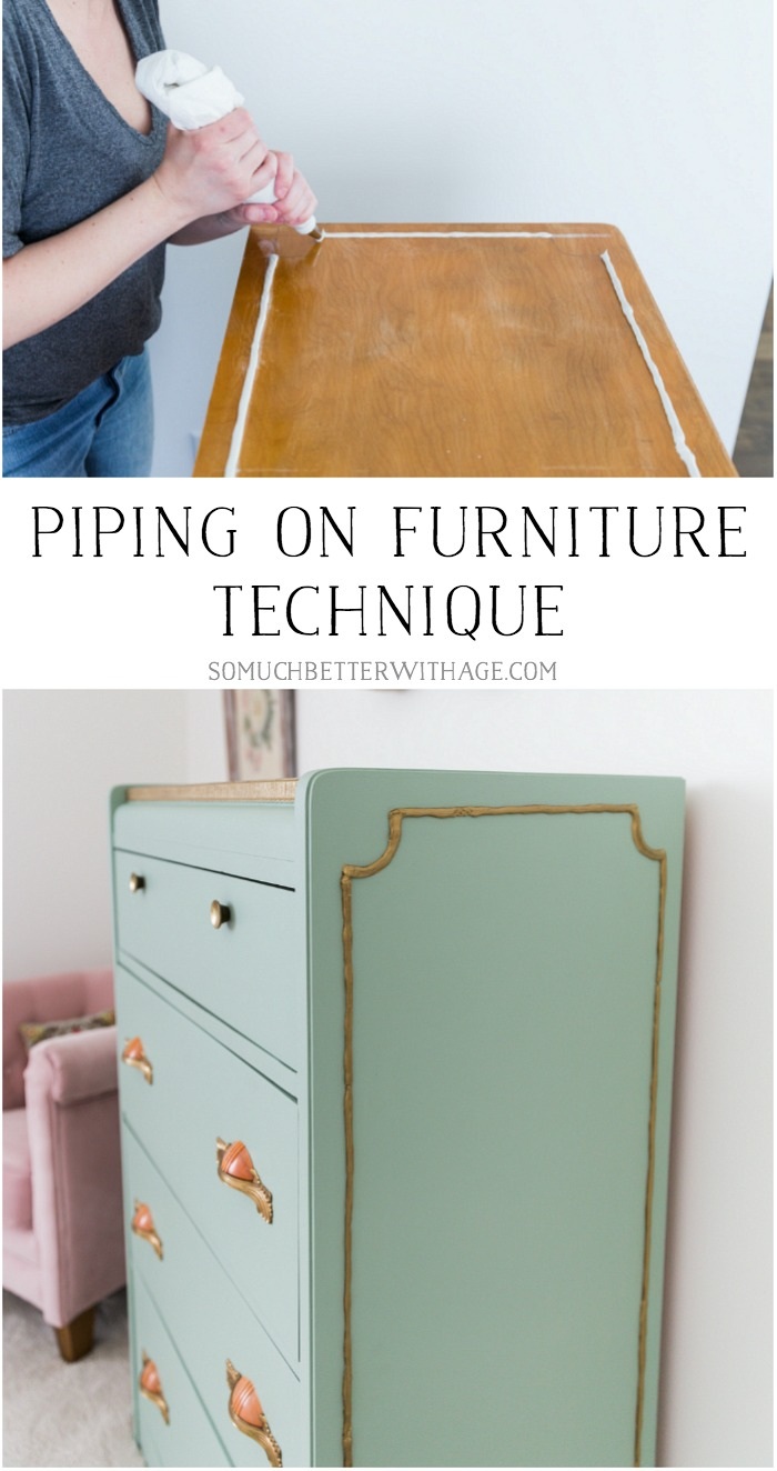 Piping on Furniture Technique - So Much Better With Age