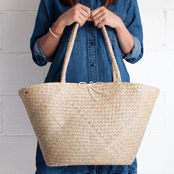 The Best Mother's Day Gifts from Etsy /Seagrass tote Xinh and Co Goods
