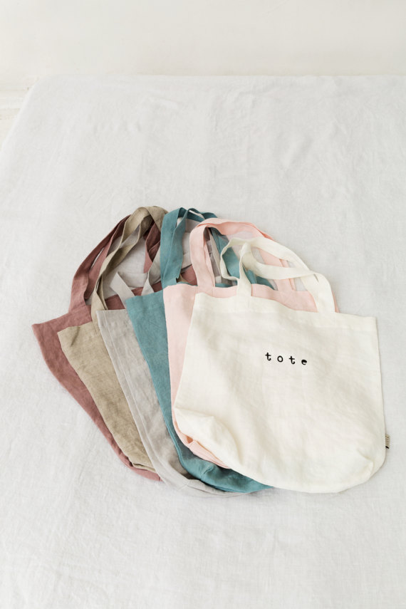 The Best Mother's Day Gifts from Etsy /Stonewashed tote Magic Linen - So Much Better With Age