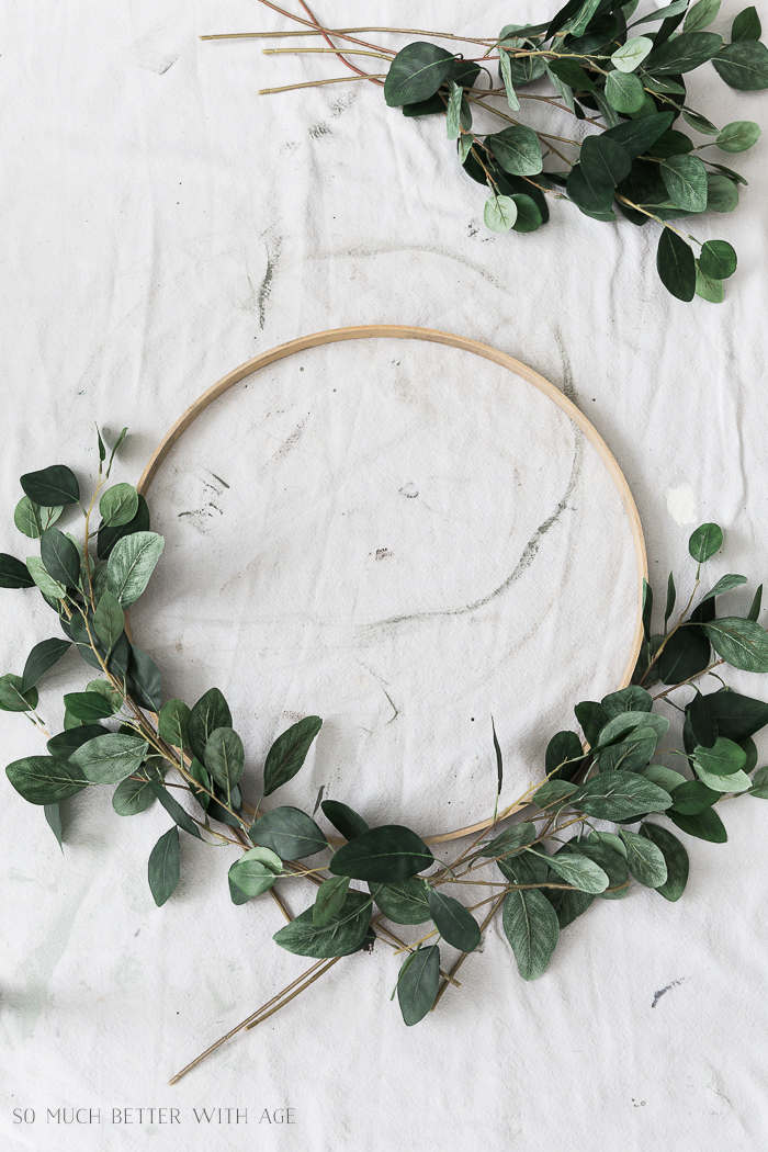 Summer Greenery Hoop Wreath/floral stems and hoop - So Much Better With Age
