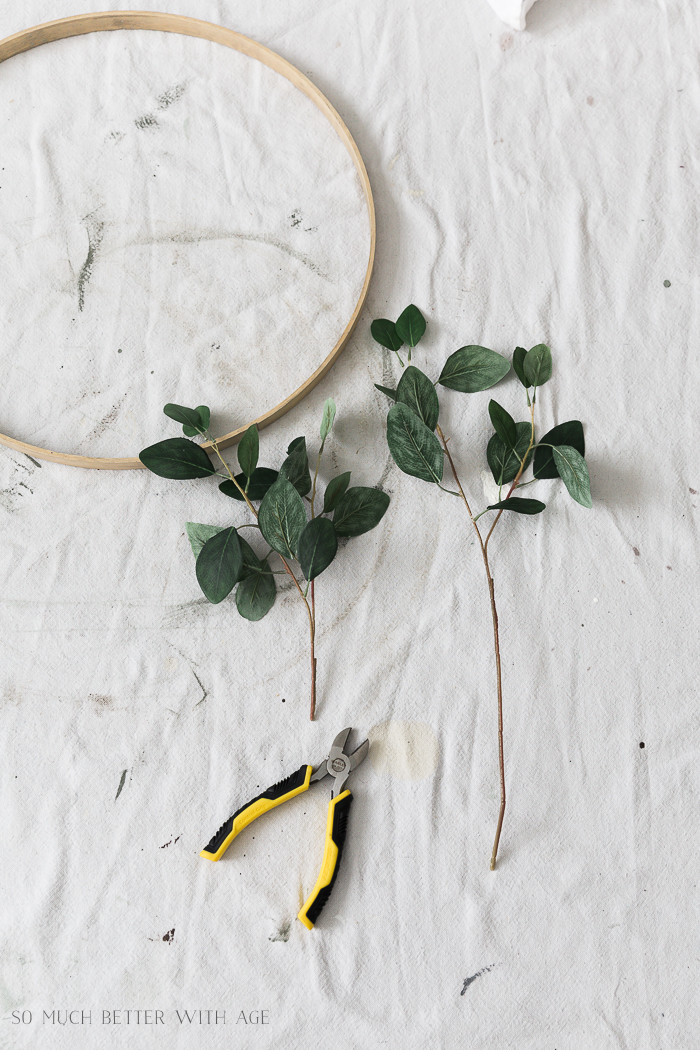 Summer Greenery Hoop Wreath/cut floral stems - So Much Better With Age