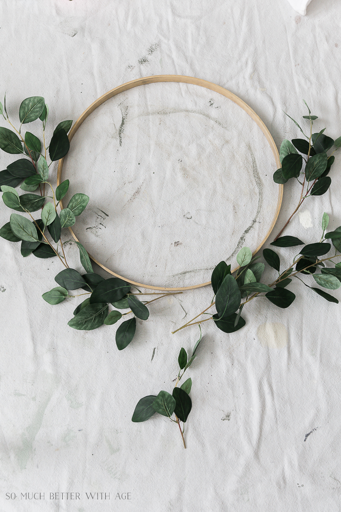 Summer Greenery Hoop Wreath/faux greenery - So Much Better With Age