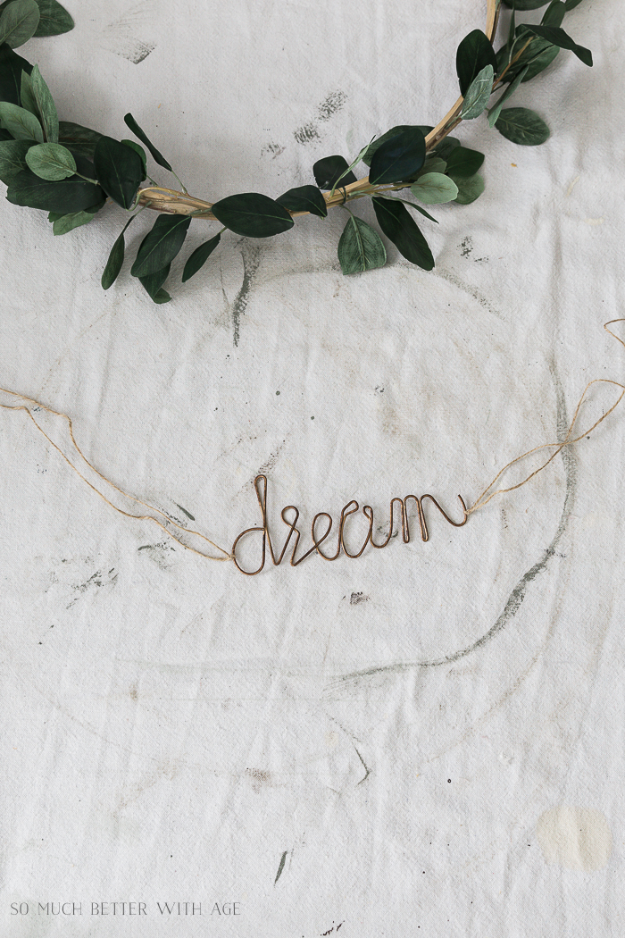 Summer Greenery Hoop Wreath/dream metal sign - So Much Better With Age