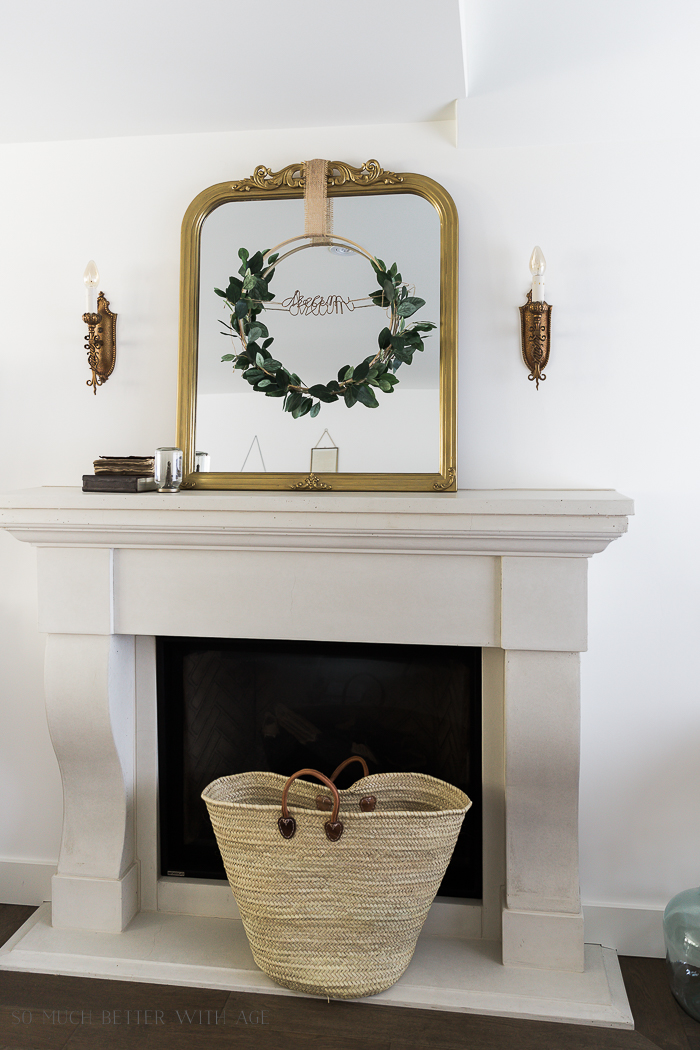 Summer Greenery Hoop Wreath/gold mirror - So Much Better With Age