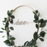 Summer Greenery Hoop Wreath