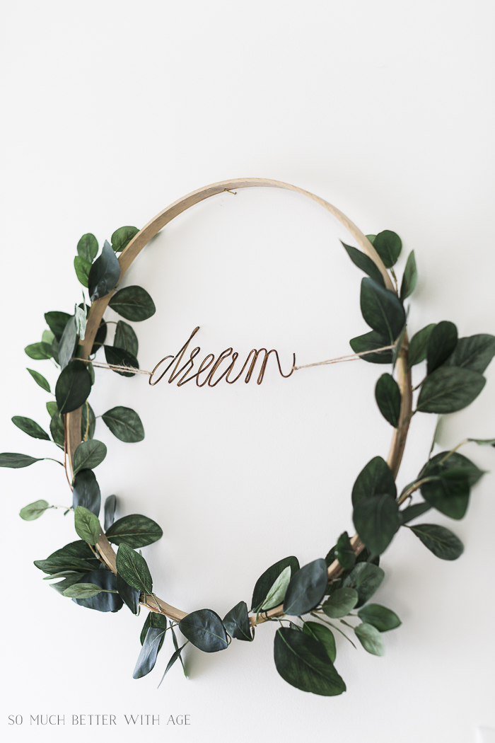 Summer Greenery Hoop Wreath/dream greenery hoop - So Much Better With Age