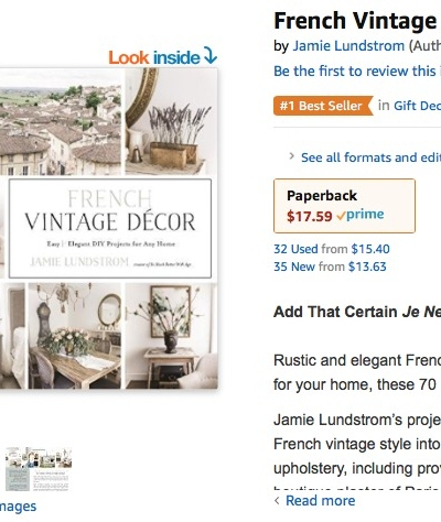 French Vintage Decor Book is Officially Released and it's a #1 Best Seller