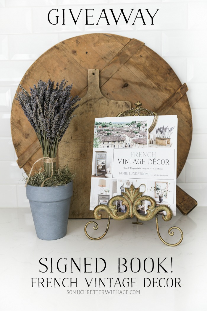 Giveaway signed copy of French Vintage Decor