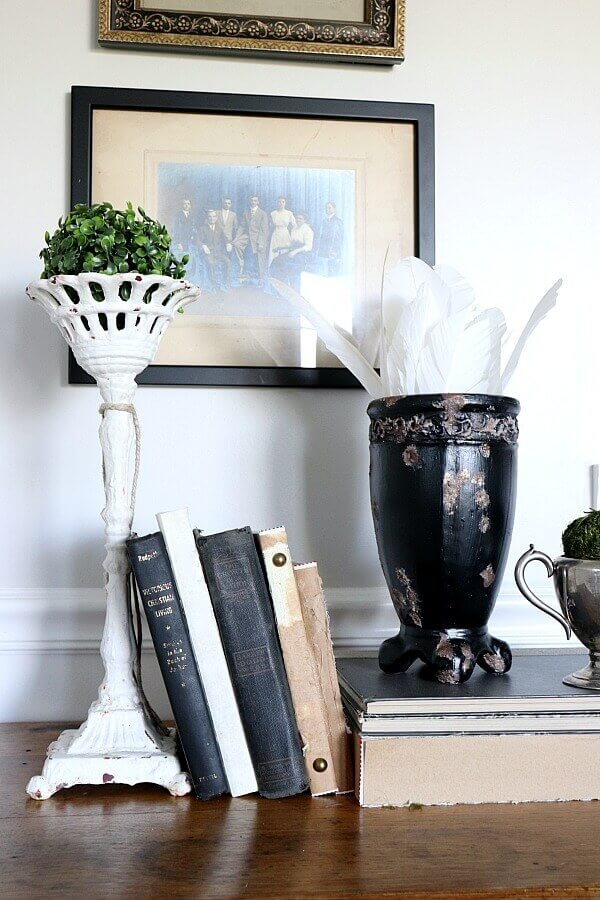 French Vintage Decor book/rusted planter - So Much Better With Age