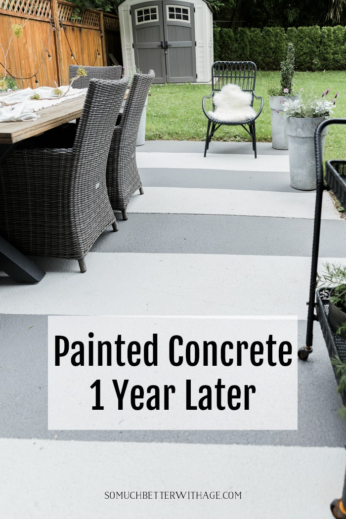 Painted Concrete One Year Later