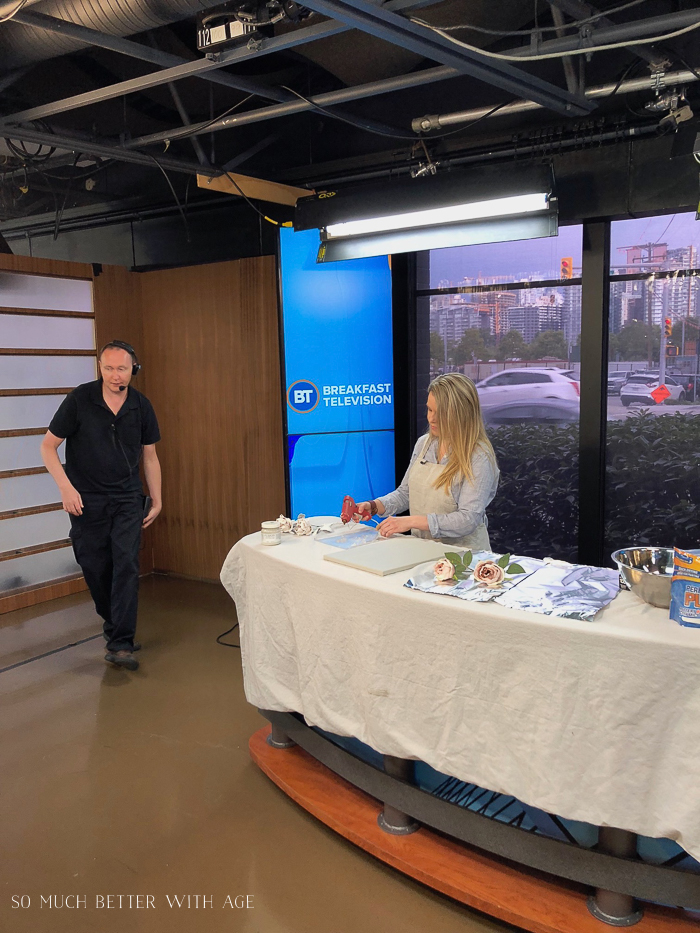 Plaster Dipped Flower Art on Breakfast Television/DIY demonstration on TV - So Much Better With Age