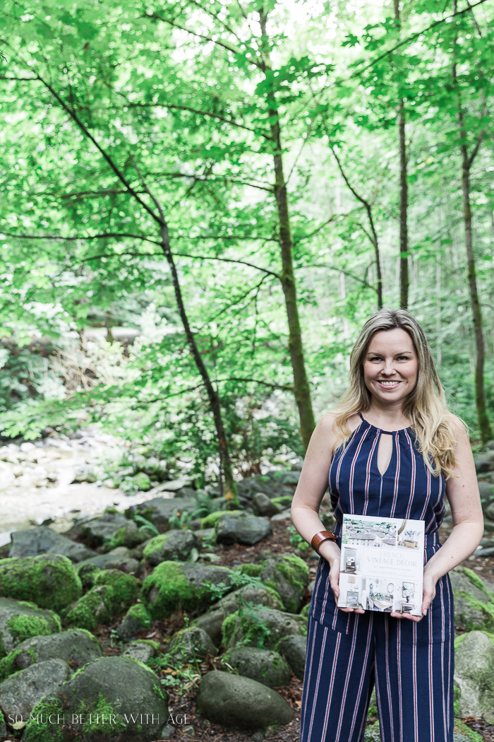 How to Boost Your Self Confidence/me holding my book - So Much Better With Age