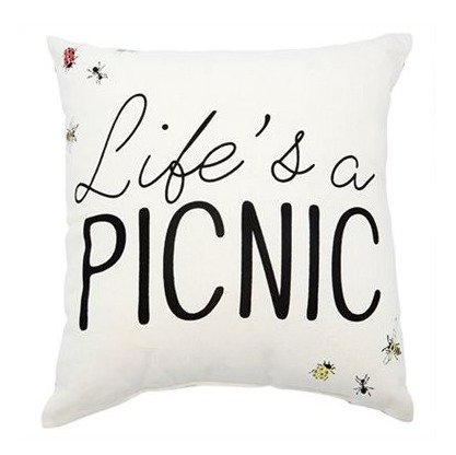 The Best Summer Picnic Items/life's a picnic pillow - So Much Better With Age