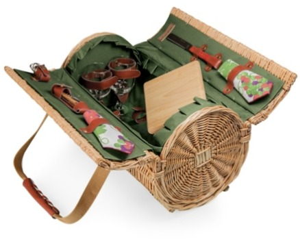 The Best Summer Picnic Items/barrel wine and cheese basket - So Much Better With Age