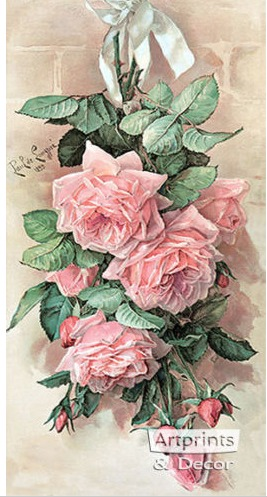 Paul do Longpre Floral Prints, My Favorite French Artist /A Bunch of Beauties- So Much Better With Age