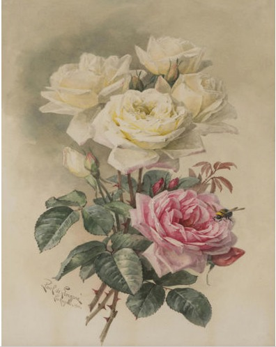 Paul do Longpre Floral Prints, My Favorite French Artist/Bride Roses - So Much Better With Age