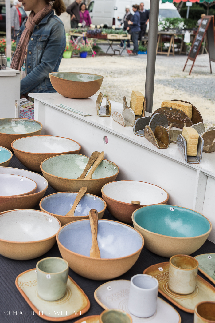 Shopping in Riberac, France/pottery - So Much Better With Age