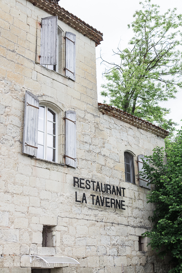 Shopping in Riberac, France/stone restaurant - So Much Better With Age