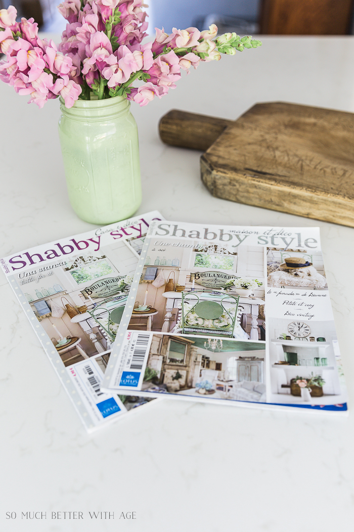 featured in two magazines shabby style country sampler farmhouse so much better with age. Black Bedroom Furniture Sets. Home Design Ideas