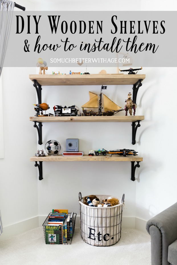 DIY Wooden Shelves U0026 How To Install Them Tutorial   So Much Better With A