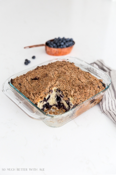 Moist and Delicious Blueberry Coffee Cake