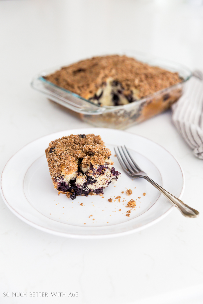 Blueberry Coffee Cake/crumb cake - So Much Better With Age