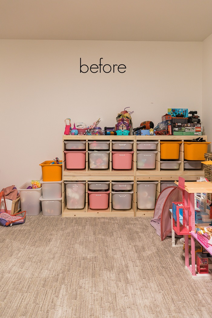 Kids' Playroom Makeover with Hot Air Balloons/before photo - So Much Better With Age