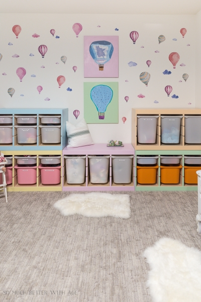 Kids' Playroom Makeover with Hot Air Balloons