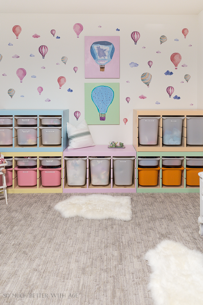 Kids' Playroom Makeover with Hot Air Balloons - So Much Better With Age
