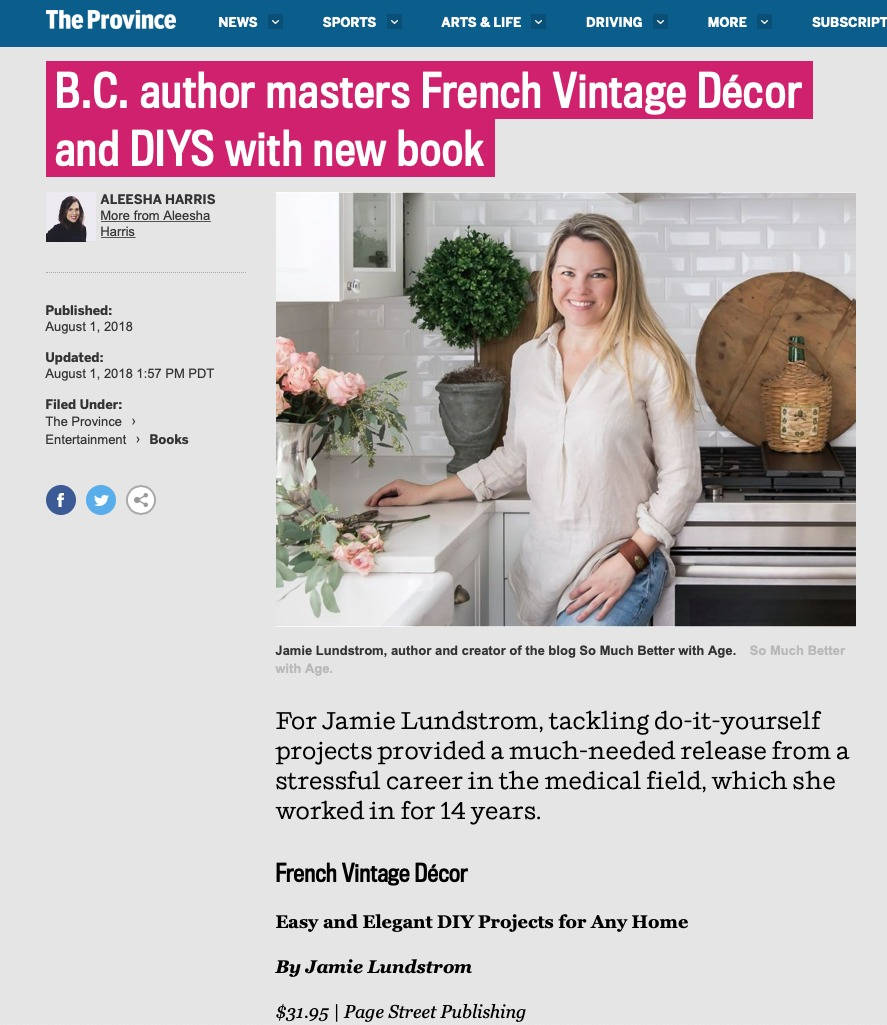Province Newspaper - French Vintage Decor - Jamie Lundstrom