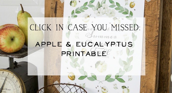 Apple and Eucalyptus Free Printable - So Much Better With Age