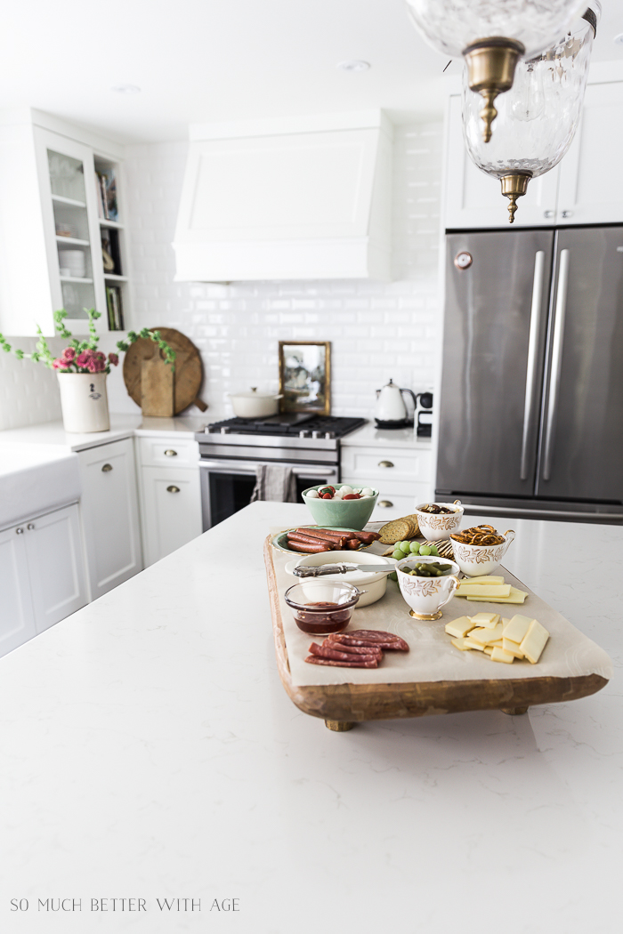 French Charcuterie Board/ white kitchen - So Much Better With Age