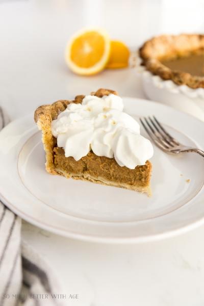 Orange Pumpkin Pie