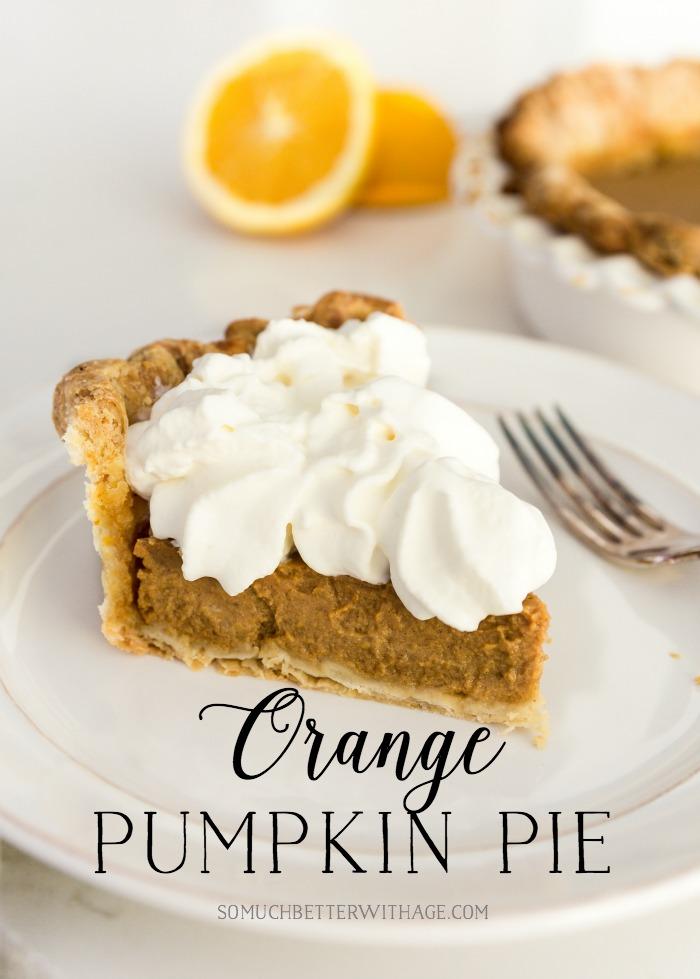 Orange Pumpkin Pie Recipe.