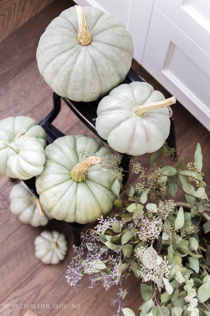 Heirloom Pumpkin Workshop/green painted pumpkins - So Much Better With Age