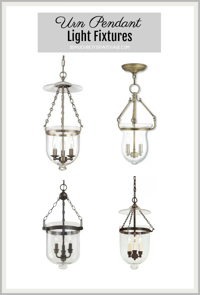 Urn Pendant Light Fixtures graphic.