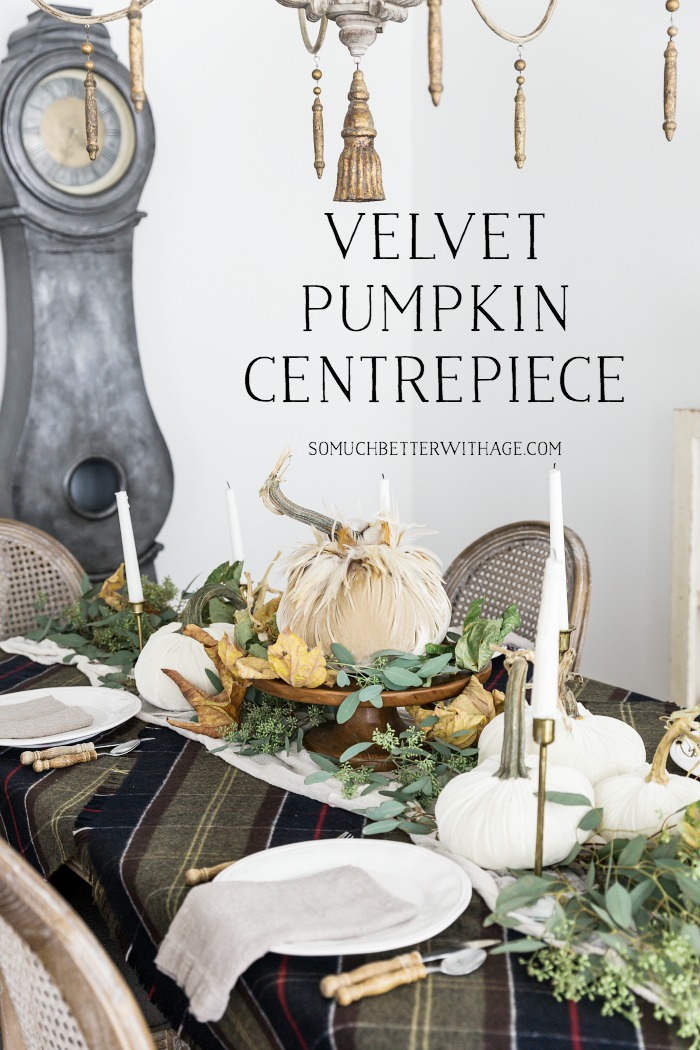Velvet Pumpkin Centrepiece - So Much Better With Age