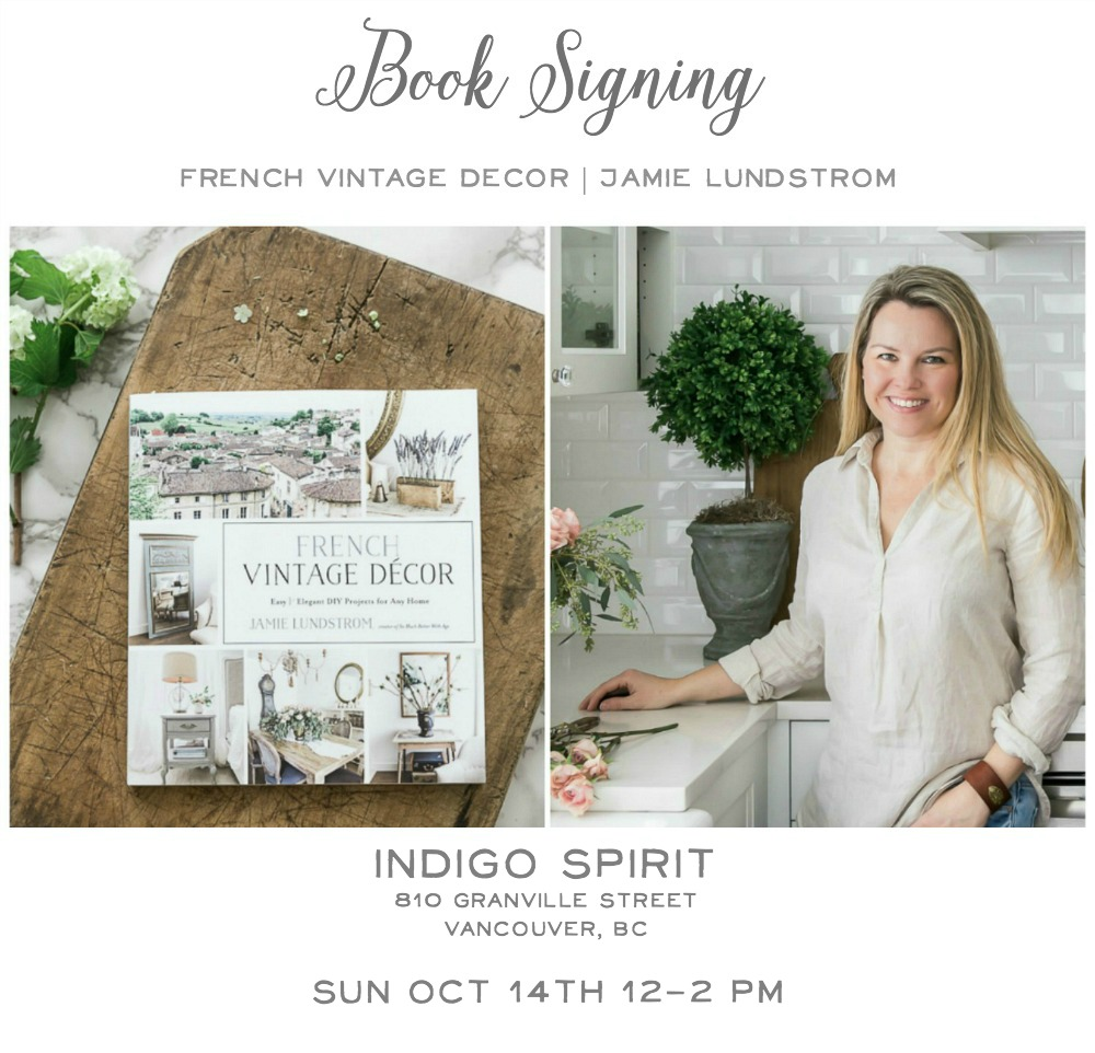 Book Signing at Indigo - French Vintage Decor