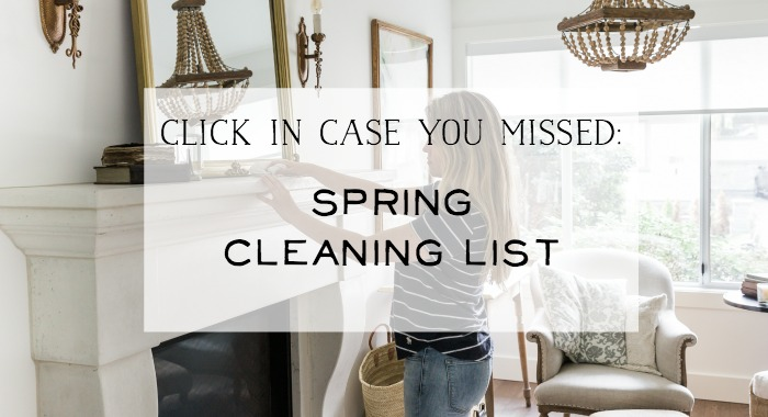 Spring cleaning list graphic.
